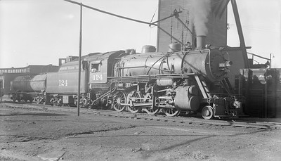 2018.15.N98A.7276--ed wilkommen 116 neg--MP--steam locomotive 2-8-0 124--Bush IL--1954 1108