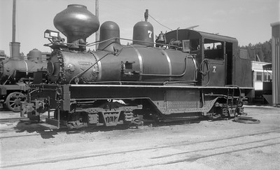 2018.15.N59.1971--ed wilkommen 116 neg--Black Hills Central--Shay steam locomotive 7--Hill City SD--1960s