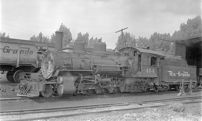 2018.15.N74A.5834--ed wilkommen 116 neg--D&RGW narrow gauge--steam locomotive 2-8-2 K-27 454--Montrose CO--1952 0912
