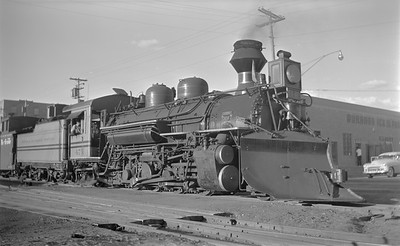 2018.15.N74A.5841--ed wilkommen 116 neg--D&RGW narrow gauge--steam locomotive 2-8-2 K-28 473--Durango CO--1951 0706