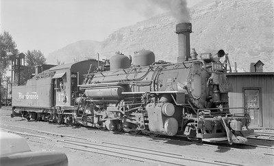 2018.15.N74A.5848--ed wilkommen 116 neg--D&RGW narrow gauge--steam locomotive 2-8-2 K-28 478--Durango CO--1956 0627