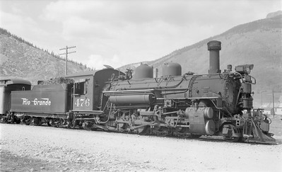 2018.15.N74A.5846--ed wilkommen 116 neg--D&RGW narrow gauge--steam locomotive 2-8-2 K-28 476--Silverton CO--1956 0909