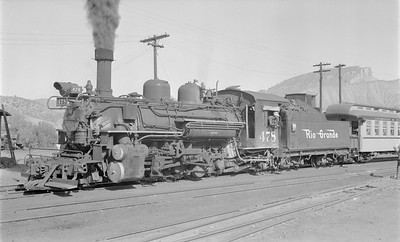 2018.15.N74A.5847--ed wilkommen 116 neg--D&RGW narrow gauge--steam locomotive 2-8-2 K-28 478--Durango CO--1956 0627