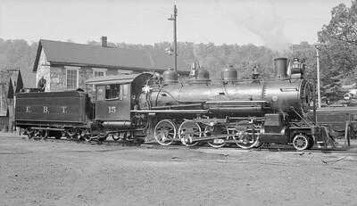 2018.15.N50.1805--ed wilkommen 116 neg--EBT--steam locomotive 2-8-2 15--Rockhill Furnace PA--no date