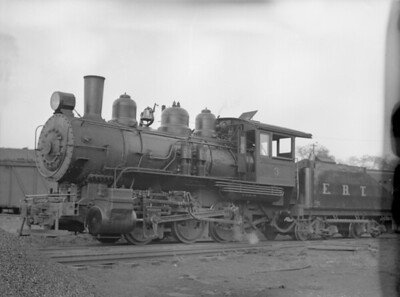 2018.15.N50.1801--ed wilkommen 3x4 neg--EBT--steam locomotive 0-6-0 3--Mt Union PA--no date