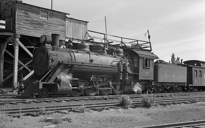 2018.15.N50.1805N--ed wilkommen 6x9 neg--EBT--steam locomotive 2-8-2 17 and wooden caboose--Rockhill Furnace PA--no date