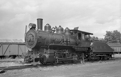 2018.15.N50.1801A--ed wilkommen 6x9 neg--EBT--steam locomotive 0-6-0 3 in yard--Mt Union PA--no date