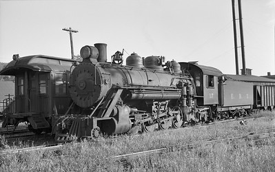 2018.15.N50.1805M--ed wilkommen 6x9 neg--EBT--steam locomotive 2-8-2 17 in yard--Rockhill Furnace PA--no date