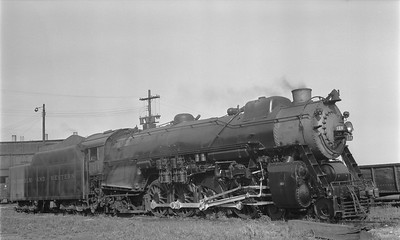 2018.15.N79.6166--ed wilkommen 116 neg--N&W--steam locomotive 4-8-2 K1 114--Norfolk VA--1956 0513