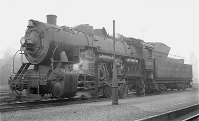 2018.15.N79.6174--ed wilkommen 116 neg--N&W--steam locomotive 0-8-0 S1a 230--Bluefield WV--1955 0410
