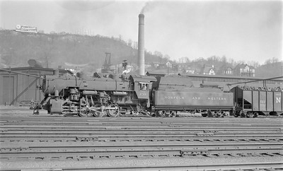 2018.15.N79.6175--ed wilkommen 116 neg--N&W--steam locomotive 0-8-0 S1a 230--Bluefield WV--1955 0410