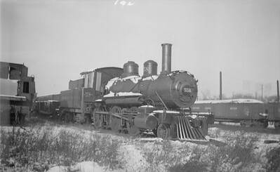 2018.15.N72.5647--ed wilkommen 116 neg--NP--steam locomotive 2-6-0 D-2 558 (dead)--St Paul MN--1941 1229