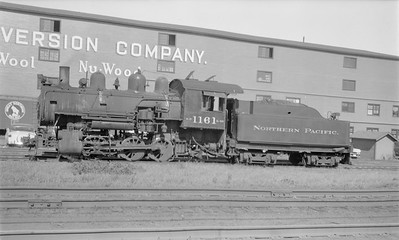 2018.15.N71.5588--ed wilkommen 116 neg--NP--steam locomotive 0-6-0 L-10 1161--Cloquet MN--no date