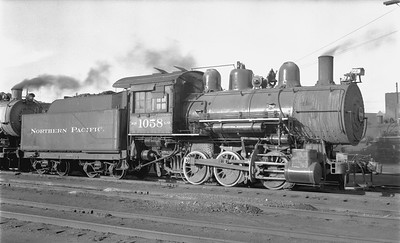 2018.15.N72.5649--ed wilkommen 116 neg--NP--steam locomotive 0-6-0 L-9 1058--Duluth MN--1956 0903