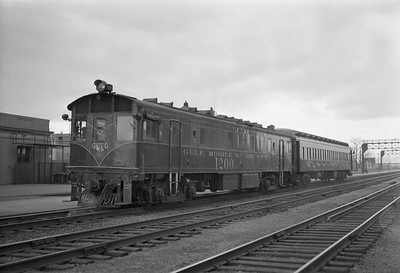 2018.15.N99X.8940--ed wilkommen 116 neg--GM&O--gas-electric (converted to diesel) motorcar 1200 and passenger coach--location unknown--no date