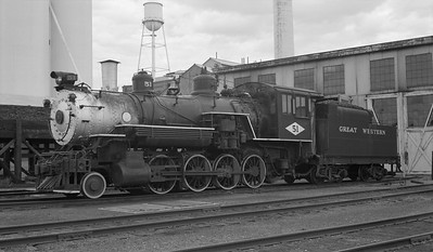 2018.15.N64D.8115--ed wilkommen 116 neg--Great Western--steam locomotive 2-8-0 51--Loveland CO--no date