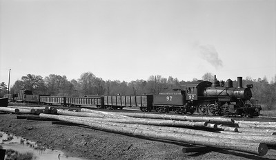 2018.15.N64G.8149--ed wilkommen 116 neg--Mobile & Gulf--steam locomotive 2-6-0 97--Brownville AL--1962 0413