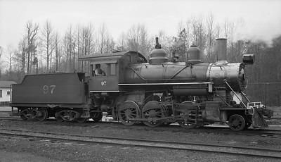 2018.15.N64G.8142--ed wilkommen 116 neg--Mobile & Gulf--steam locomotive 2-6-0 97--Brownville AL--no date