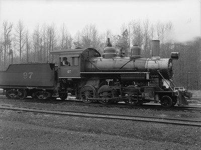 2018.15.N64G.8151--ed wilkommen 3x4 neg--Mobile & Gulf--steam locomotive 2-6-0 97--Brownville AL--no date