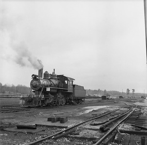 2018.15.N64G.8140A--ed wilkommen 120 neg--Mobile & Gulf--steam locomotive 2-6-0 97 in yard scene--Brownville AL--c1956 0000