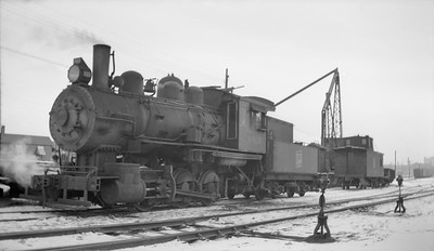 2018.15.N92.7018--ed wilkommen 116 neg--SOO--steam locomotive 0-6-0 B-3 343--Minneapolis MN--1946 1222