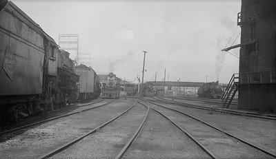 2018.15.N92.7743--ed wilkommen 116 neg--SOO--steam locomotive 4-8-2 N-20 4010 in CMStP&P yard scene--Milwaukee WI--no date
