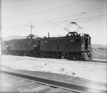 2018.15.N64.2559A--ed wilkommen 116 neg--Butte Anaconda & Pacific--electric locomotive 65 and 54--location unknown--no date