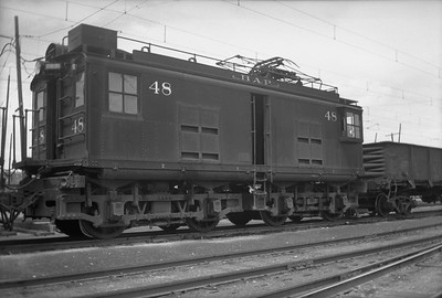 2018.15.N64.2560A--ed wilkommen 3x4 neg--Butte Anaconda & Pacific--electric locomotive 48--location unknown--no date