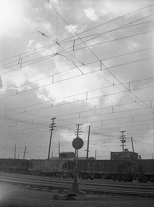 2018.15.N64.2562D--ed wilkommen 3x4 neg--Butte Anaconda & Pacific--yard and catenary scene--Anaconda MT--no date