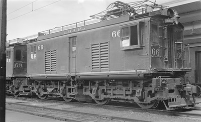 2018 15 N64 2562--ed wilkommen 116 neg--Butte Anaconda & Pacific--electric locomotive 66--Butte MT--1952 0908