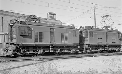 2018 15 N64 2559--ed wilkommen 116 neg--Butte Anaconda & Pacific--electric locomotive 50 and 48--Rocker MT--1968 0800