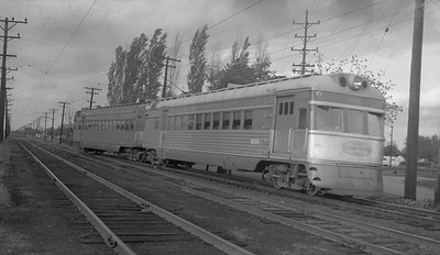 2018.15.N64.2725M--ed wilkommen 116 neg--IT--electric streamliner interurban 301--Springfield IL--1954 1100