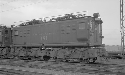 2018.15.N58.1968--ed wilkommen 116 neg--CN--electric locomotive 181--location unknown--1960s
