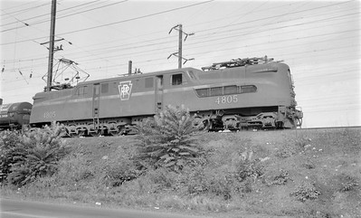 2018.15.N58.1965--ed wilkommen 116 neg--PRR--electric locomotive 4805--location unknown--1960s
