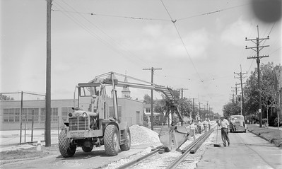 2018.15.N64.2954--ed wilkommen 116 neg--CSS&SB--track crews installing new crossing--location unknown--no date