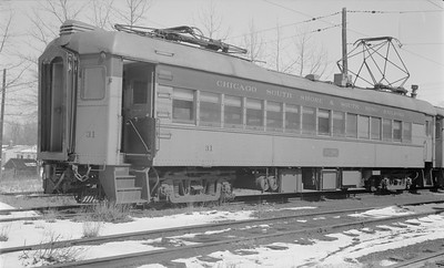 2018.15.N64.2963--ed wilkommen 116 neg--CSS&SB--electric interurban 31 at shops--Michigan City IN--1964 0400