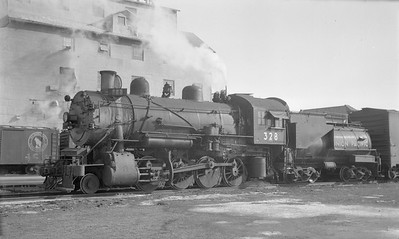 2018.15.N81.6230--ed wilkommen 116 neg--UP--steam locomotive 2-8-0 328--Topeka KS--1950 0000