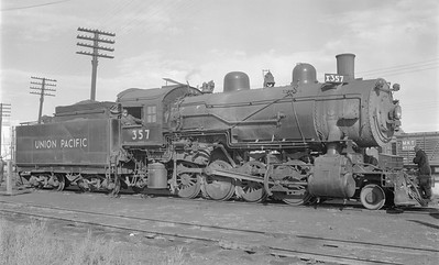 2018.15.N81.6232--ed wilkommen 116 neg--UP--steam locomotive 2-8-0 357--Sterling CO--1956 0913