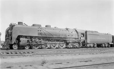 2018.15.N81.6243--ed wilkommen 116 neg--UP--steam locomotive 4-8-4 800--Grand Island NE--1956 0917