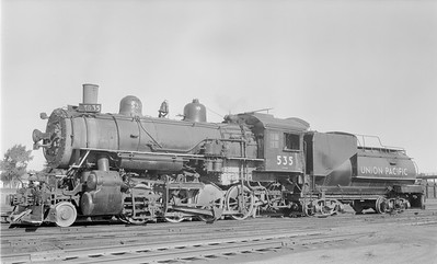 2018.15.N81.6241--ed wilkommen 116 neg--UP--steam locomotive 2-8-0 535--Laramie WY--1956 0915