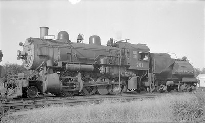 2018.15.N81.6228--ed wilkommen 116 neg--UP--steam locomotive 2-8-0 201--Topeka KS--1948 0000