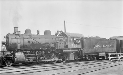 2018.15.N81.6242--ed wilkommen 116 neg--UP--steam locomotive 2-8-0 732--location unknown--no date