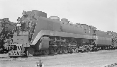 2018.15.N94.7152--ed wilkommen 116 neg--WAB--steam locomotive 4-6-4 P-1 700 (streamlined)--Decatur IL--1954 1107