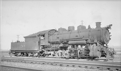 2018.15.N94.7156--ed wilkommen 116 neg--WAB--steam locomotive 0-8-0 C-3 1568--North Kansas City MO--1949 0530