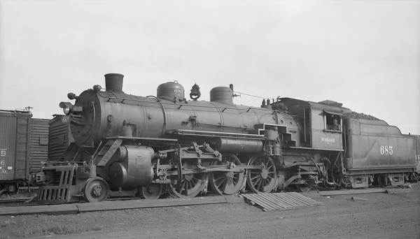 2018.15.N94.7149--ed wilkommen 116 neg--WAB--steam locomotive 4-6-2 J-2 685--North Kansas City MO--1949 0801