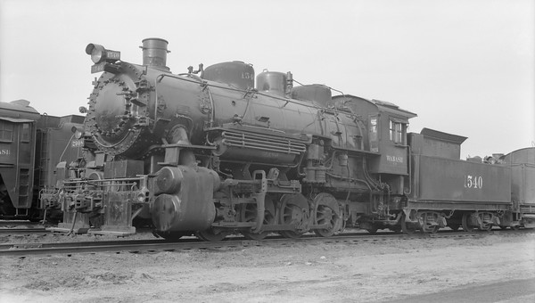 2018.15.N94.7155--ed wilkommen 116 neg--WAB--steam locomotive 0-8-0 C-3 1540 (dead)--Decatur IL--1953 0202