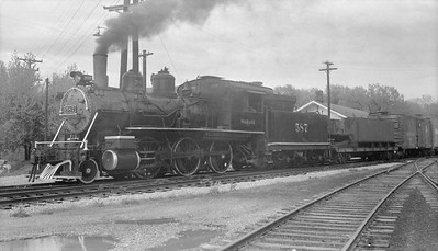 2018.15.N94.7144A--ed wilkommen 116 neg--WAB--steam locomotive 2-6-0 587 on Iowa Chapter NRHS fantrip--location unknown--1954 0500