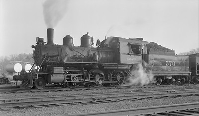 2018.15.N94.7143A--ed wilkommen 116 neg [Stan Mailer]--WAB--steam locomotive 2-6-0 576 in yard--location unknown--no date