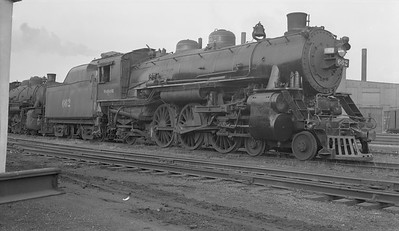 2018.15.N94.7145A--ed wilkommen 116 neg--WAB--steam locomotive 4-6-2 J-1 662--Decatur IL--1953 0408