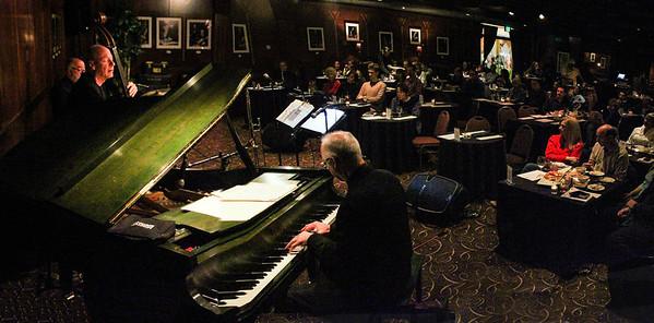 """Comfort Zone""   Peter Erskin, Drummer; Tom Warrington, Bass; Richard Ames, Piano  photo by: Craig Levine 310-850-9148"